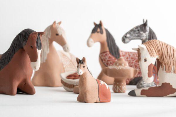 9 Piece Horse Nativity